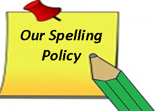 Spelling policy